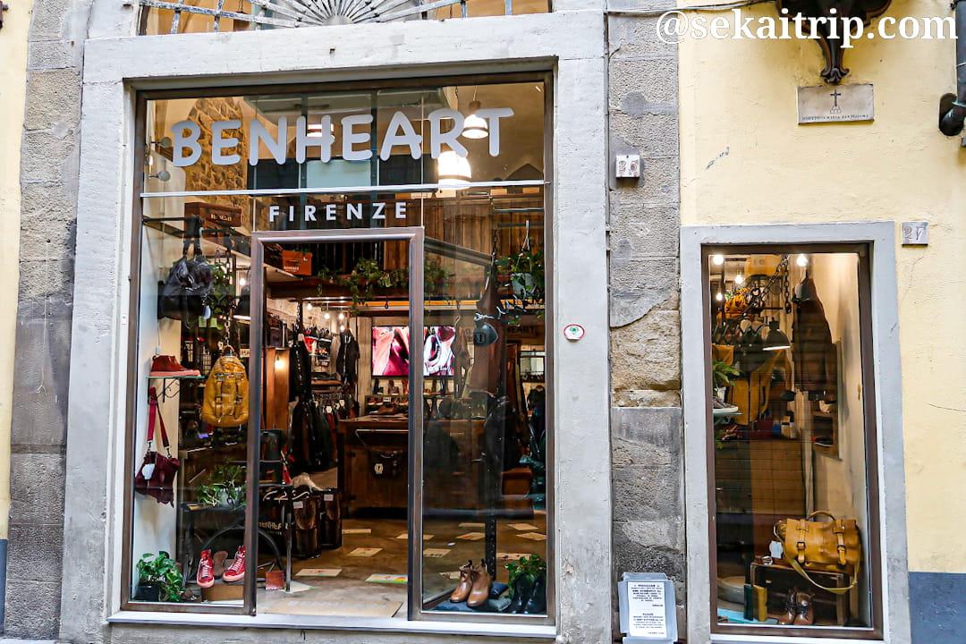 フィレンツェのベンハート(BENHEART)本店