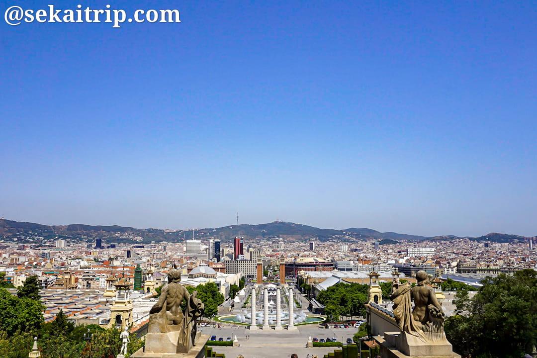 カタルーニャ美術館(Museu Nacional d'Art de Catalunya)から見た景色
