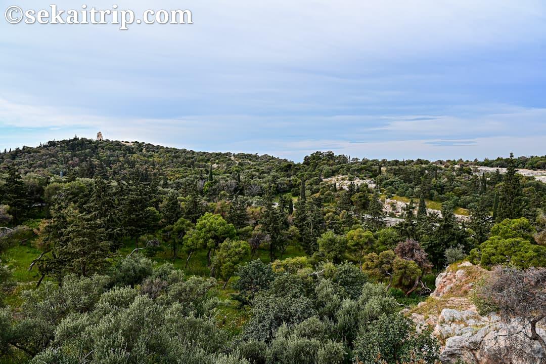 ギリシャ・アテネのフィロパポスの丘(Philopappos Hill)からの眺め