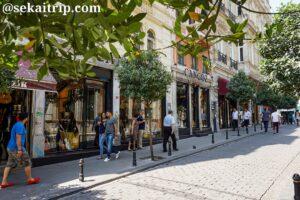 イスタンブールのガーリップデデ通りにある楽器屋さん