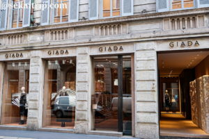 ジャーダ(GIADA)のミラノ本店