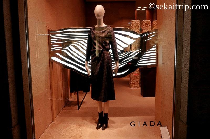 GIADA本店のディスプレイ