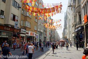 イスタンブールのイスティクラル通り