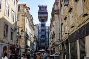ポルトガル・リスボンのサンタ・ジュスタのリフト(Elevador de Santa Justa)
