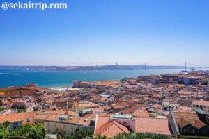 サン・ジョルジェ城(Castelo de São Jorge)から見たリスボンの街並み