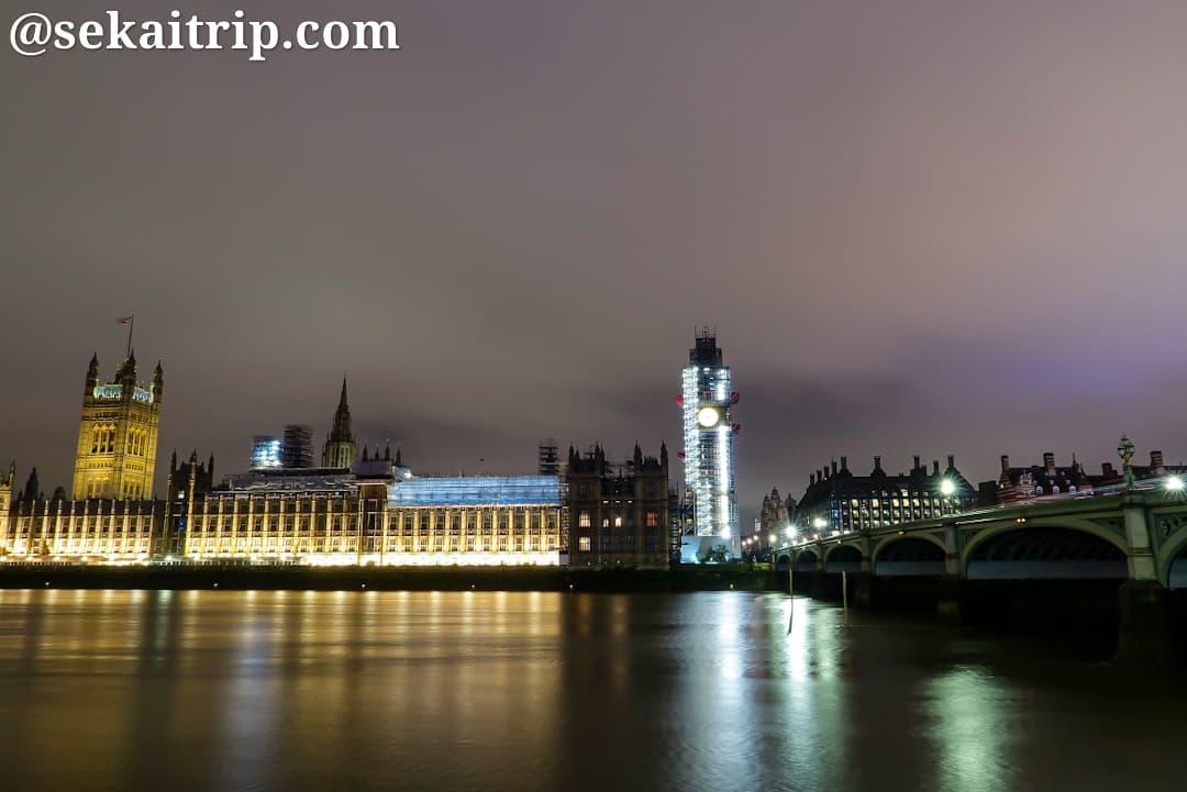 ビッグ・ベン(Big Ben)の夜景