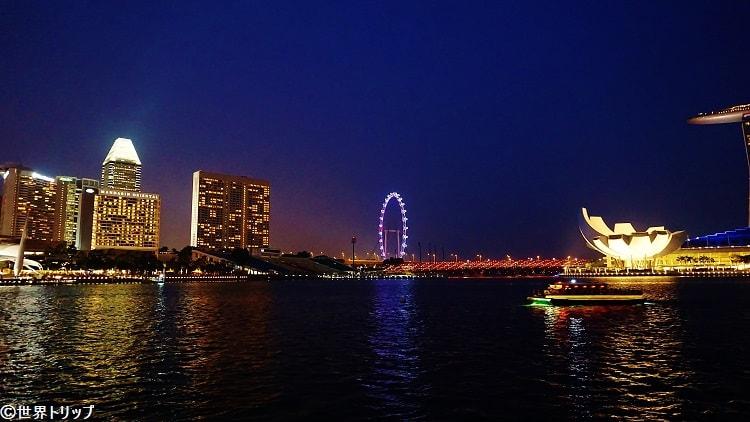 シンガポール・フライヤー周辺の夜景