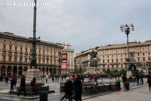 イタリア・ミラノのドゥオーモ広場(Piazza del Duomo)