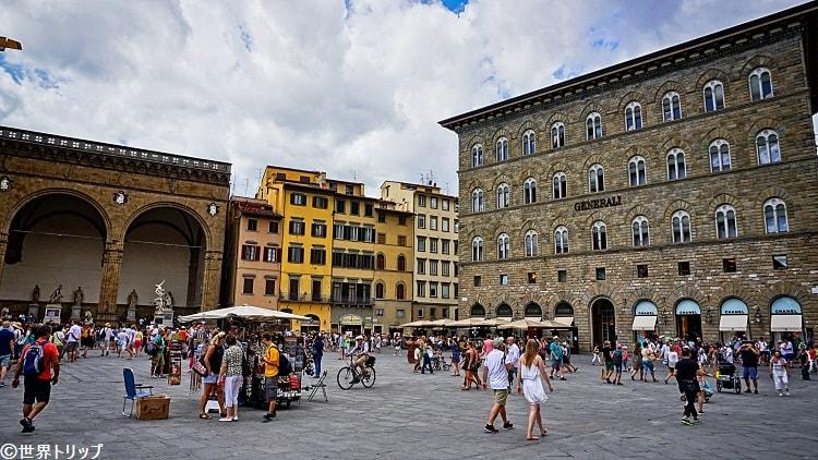 イタリア・フィレンツェのシニョリーア広場(Piazza della Signoria)