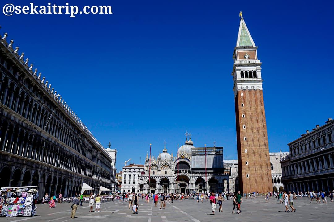 イタリア・ベネチアのサン・マルコ広場(Piazza San Marco)