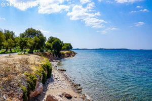 ギリシャのグリファダ近郊のPlatia Eleftheriou Venizelou