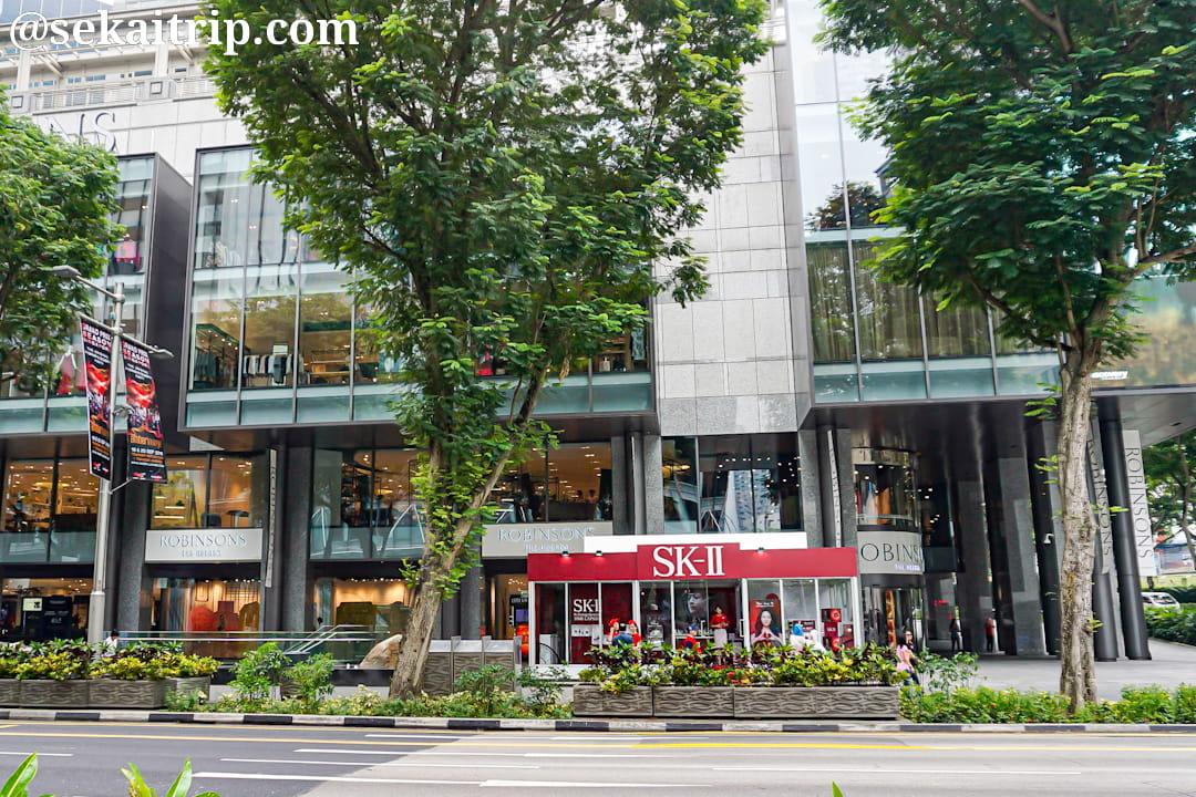 シンガポールのロビンソンズ・ザ・ヒーレン