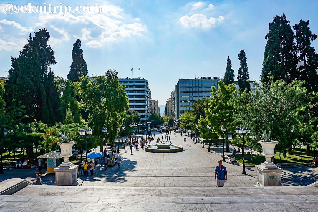 ギリシャ・アテネのシンタグマ広場(Syntagma Square)