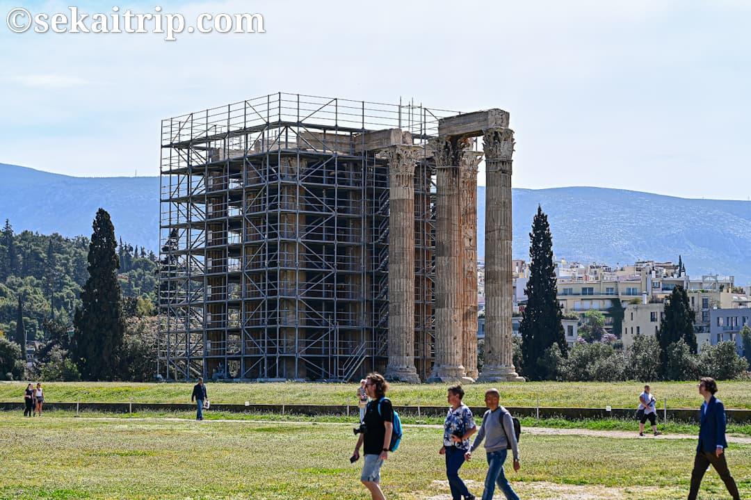 ギリシャ・アテネのゼウス神殿(Temple of Olympian Zeus)