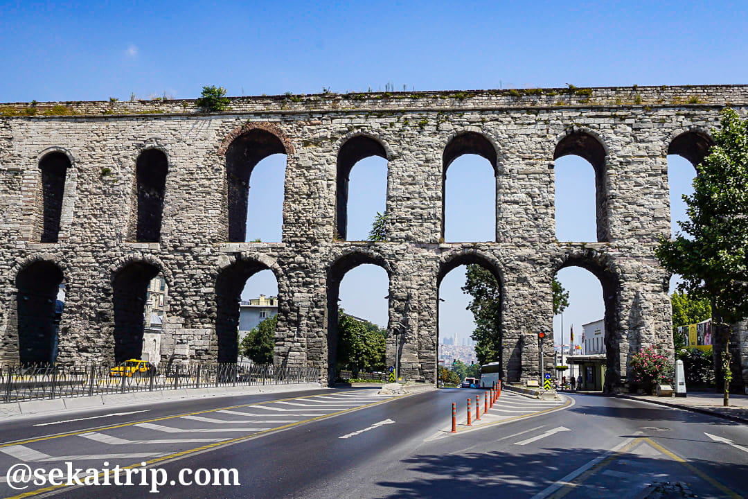 トルコ・イスタンブールのヴァレンス水道橋(Valens Su kemeri)