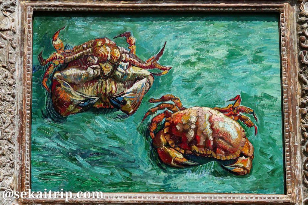 ナショナル・ギャラリーで展示されているゴッホ作の「Two Crabs」
