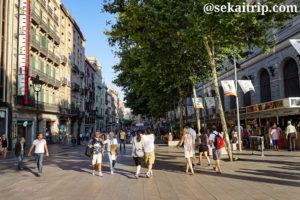 バルセロナのポルタル・デ・ランジェル通り(Portal de l'Àngel)