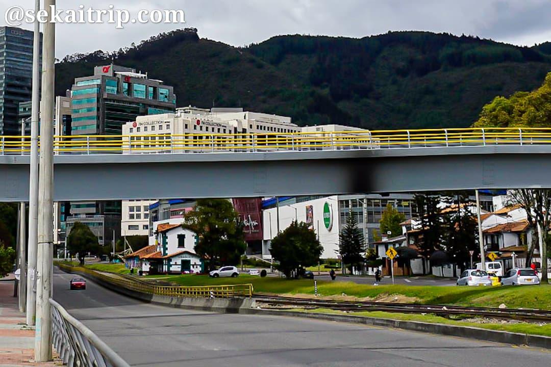 ボゴタのサンタ・アナ(Centro Comercial Santa Ana)周辺