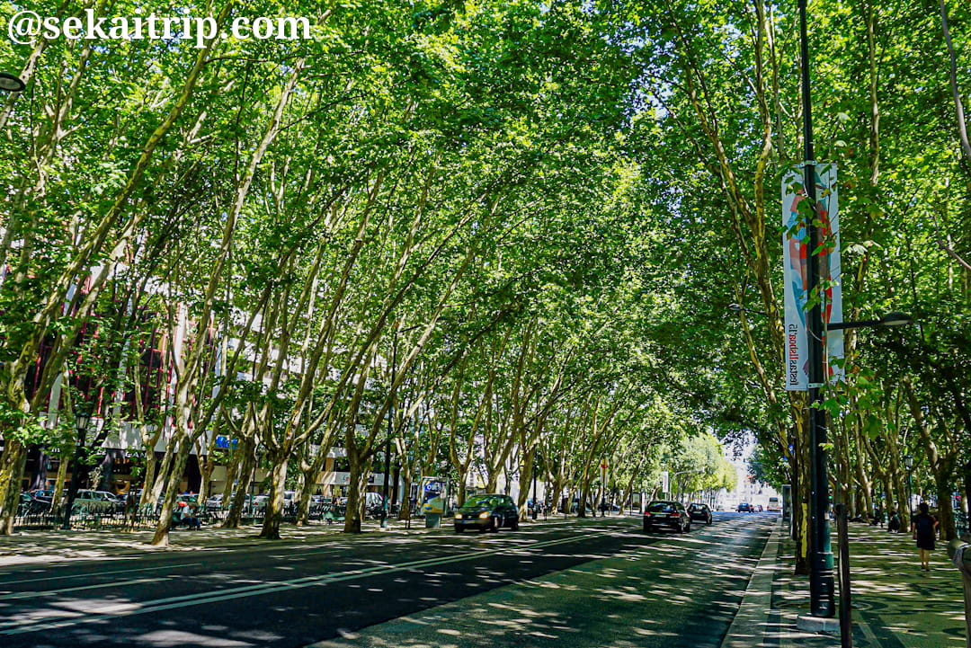 リスボンのリベルダーデ大通り(Avenida da Liberdade)