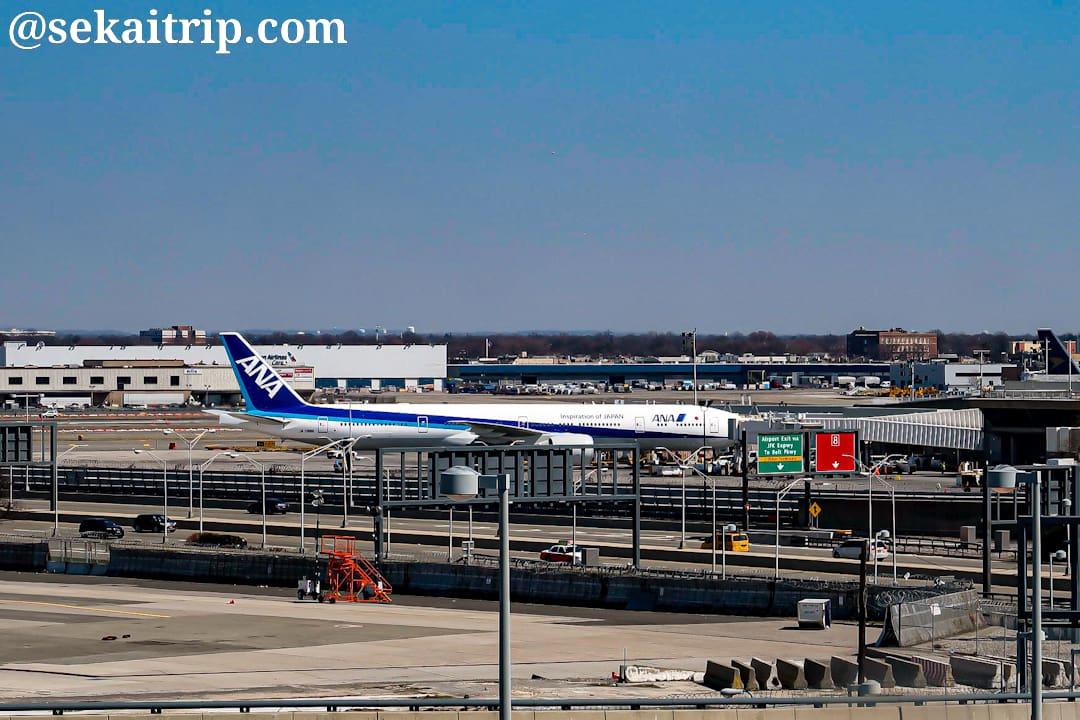 ジョン・F・ケネディ国際空港で撮影した全日空の機体