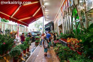 香港の花園街(Flower Market)