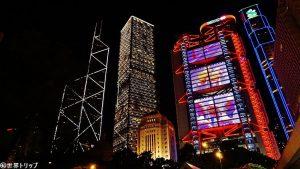 香港のHSBC香港本店ビル周辺