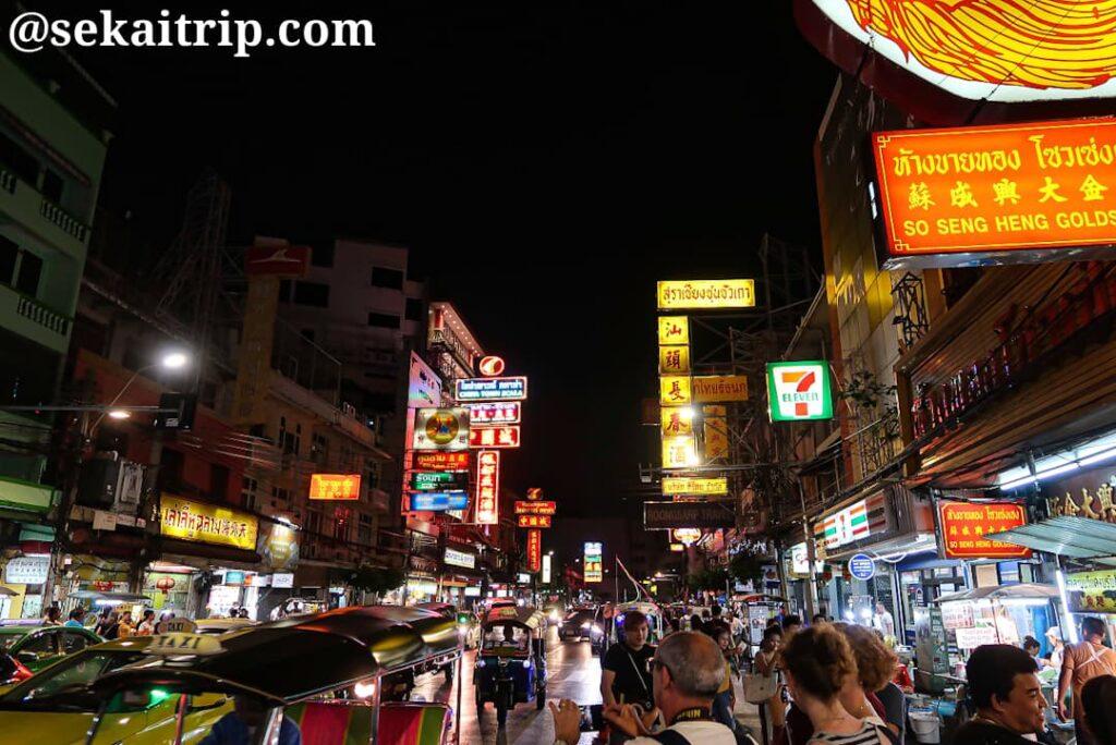 バンコクの中華街(夜)