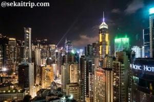 香港のベスト・ウエスタン・コーズウェイ・ベイ(Best Western Causeway Bay)からの夜景