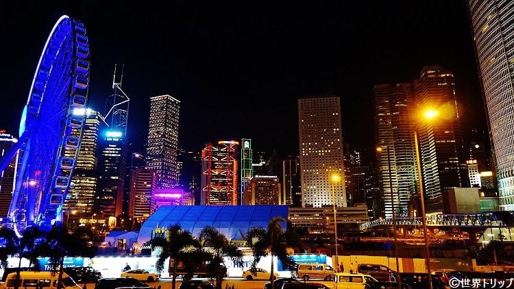 香港のセントラル・ピアーズ(Central Piers)から撮影したセントラル周辺