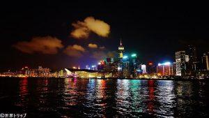 香港のセントラル・ピアーズ(Central Piers)から撮影した灣仔側