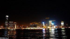 香港のセントラル・ピアーズ(Central Piers)から撮影した九龍側
