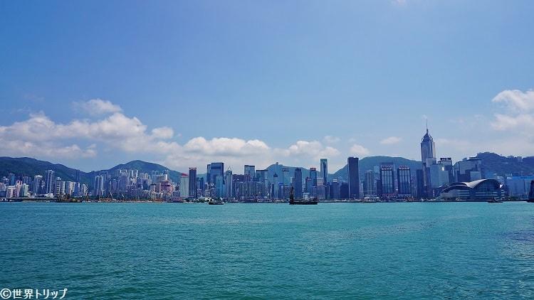 香港島の景色(チムサーチョイ・プロムナード(Tsim Sha Tsui Promenade)から撮影)