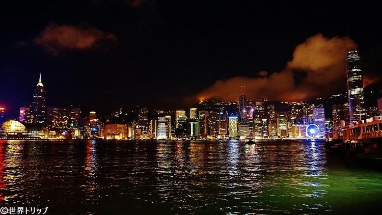 香港の夜景(カオルーン・パブリック・ピア(Kowloon Public Pier)から撮影)