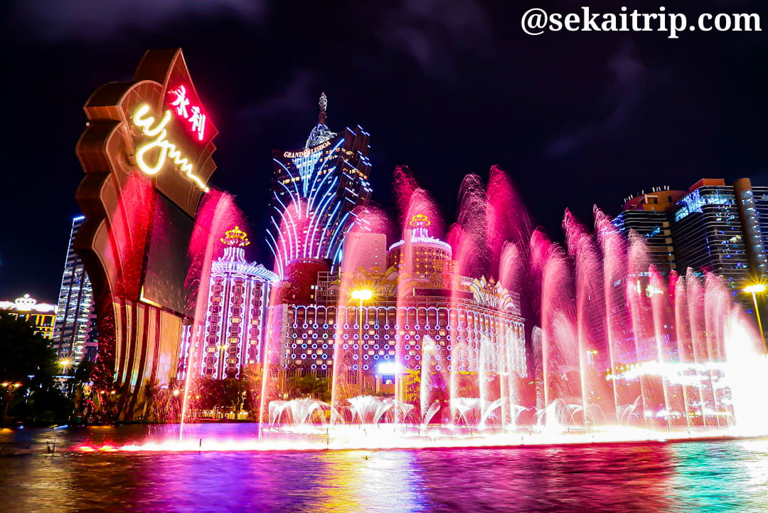 ウィン・マカオ(Wynn Macau)の噴水ショー