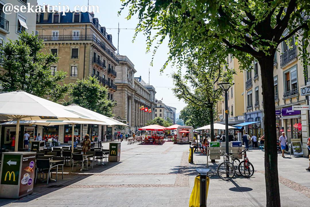ジュネーブのモンブラン通り(Rue du Mont-Blanc)