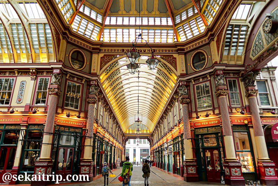 ロンドンのレドンホール・マーケット(Leadenhall Market)