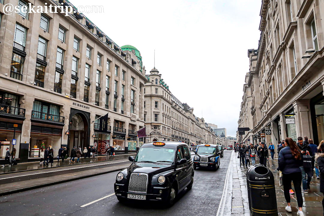 ロンドンのリージェント・ストリート(Regent Street)
