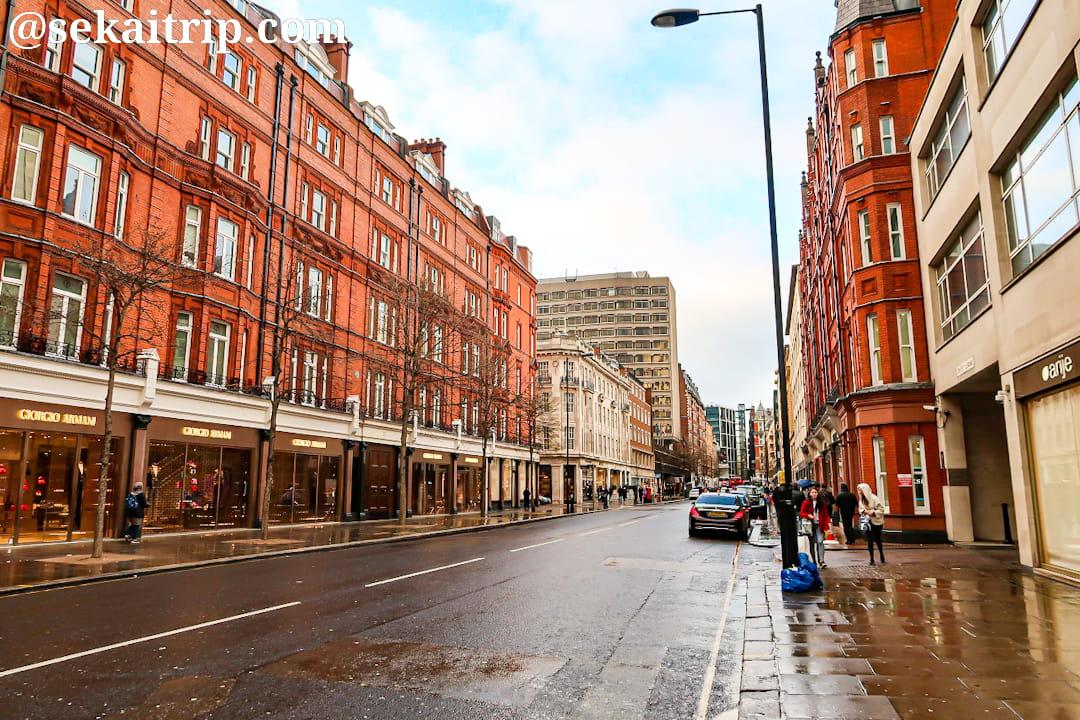 ロンドンのスローン・ストリート(Sloane Street)
