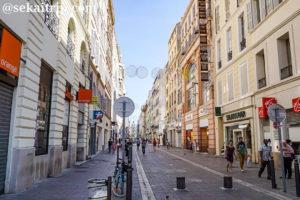 マルセイユのサン・フェレオル通り(Rue Saint-Ferréol)