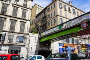マルセイユのジュリアン広場(Cours Julien)周辺