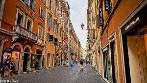 ローマのフラッティーナ通り(Via Frattina)
