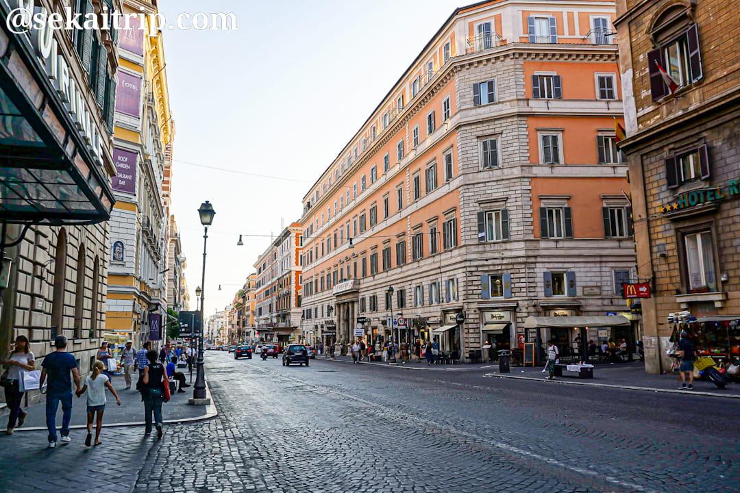ローマのナツィオナーレ通り(Via Nazionale)