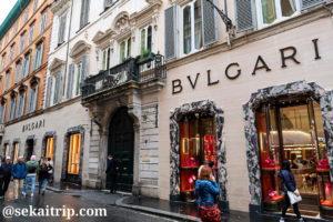 ローマのブルガリ本店