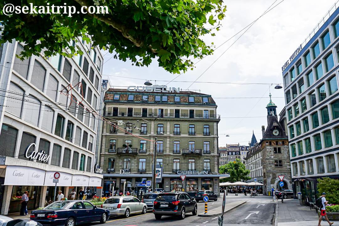 ローヌ通り(Rue du Rhône)周辺