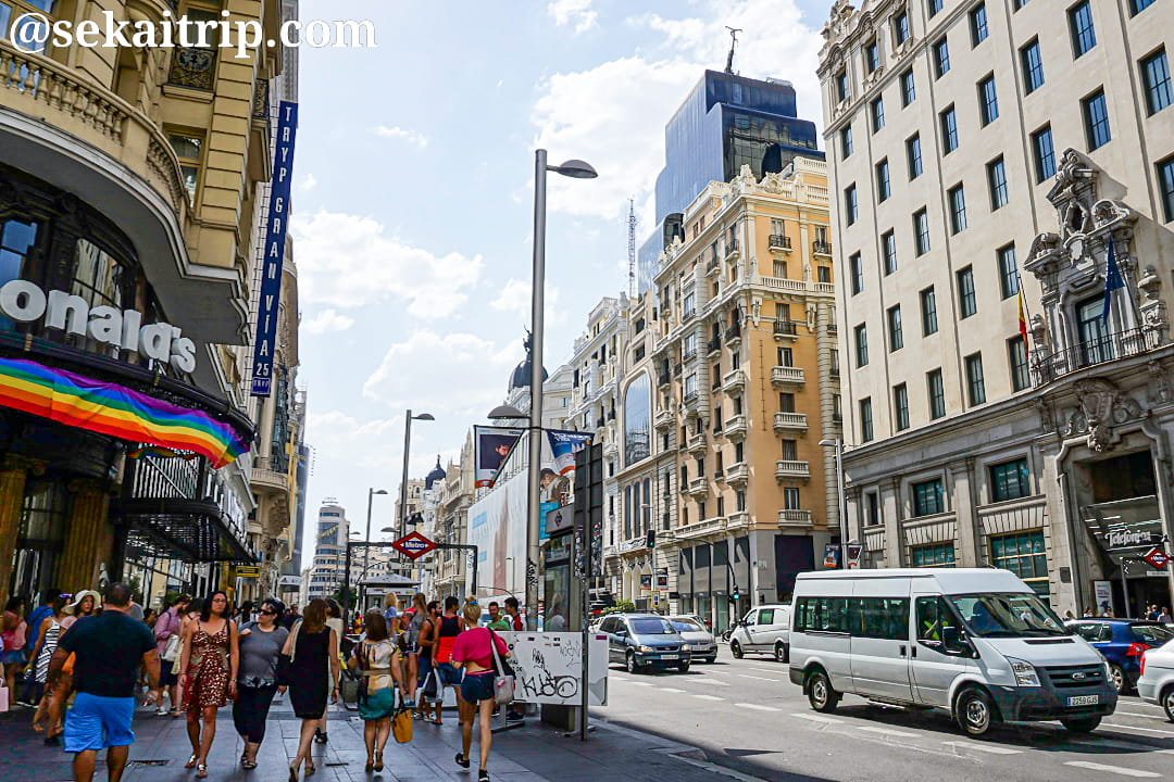 グラン・ビア通り(Calle Gran Vía)