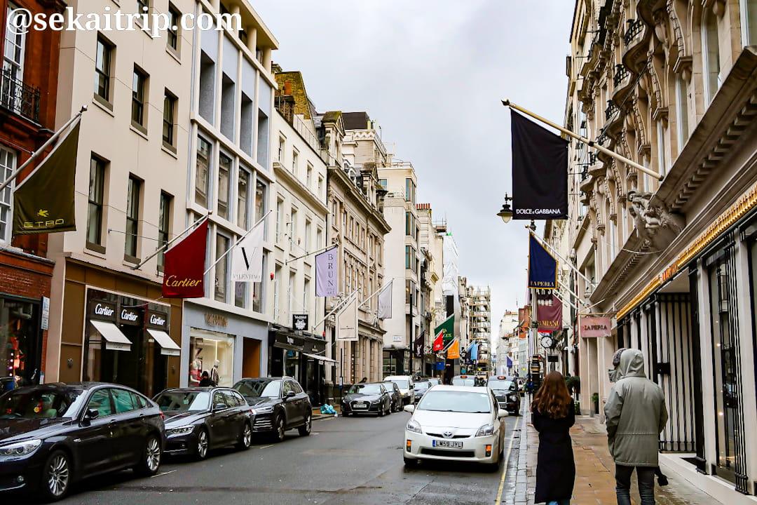 ロンドンのオールド・ボンド・ストリート