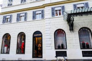 ローマのヴァレンティノ本店