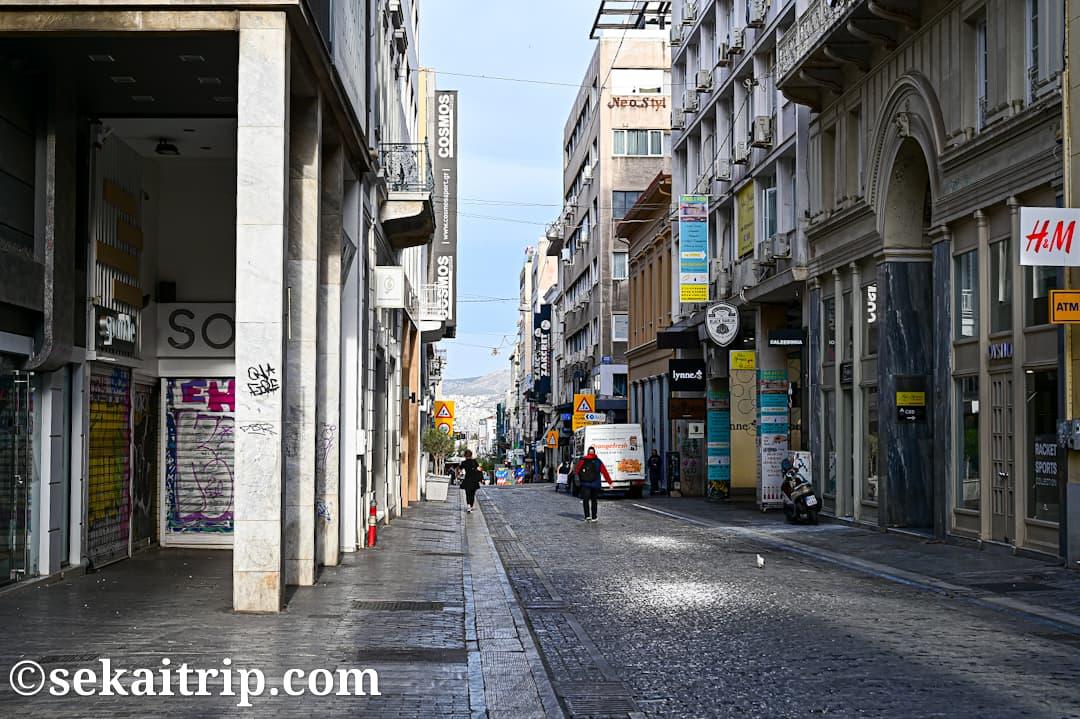 アテネ・エルムー通り(Ermou Street)のカジュアルパート