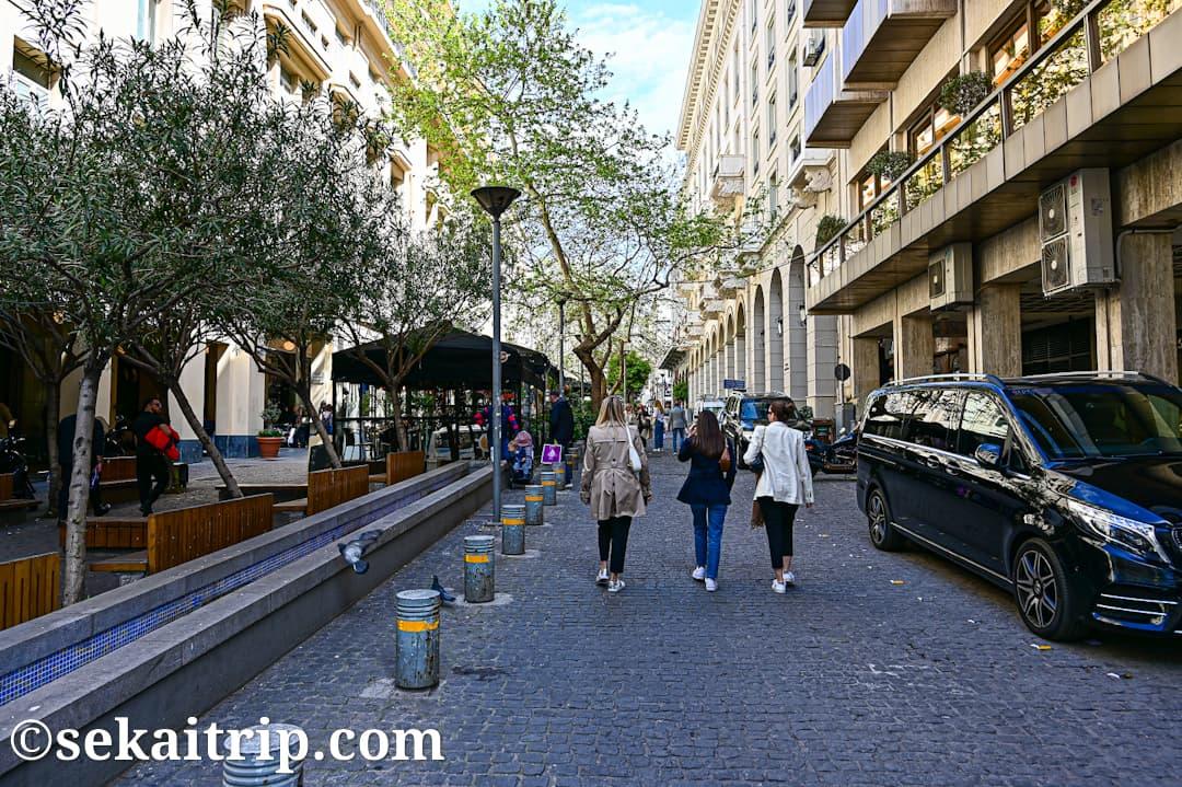アテネ・ヴクレスエティウ通り(Voukourestiou Street)のカルティエ