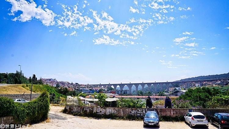 カンポリデ通りから見たアグアス・リブレス水道橋